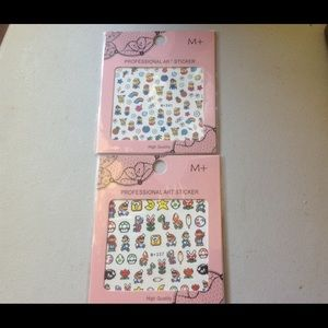 Other - Set of 2 Nail Art Stickers-SUPER MARIO/MINIONS-new